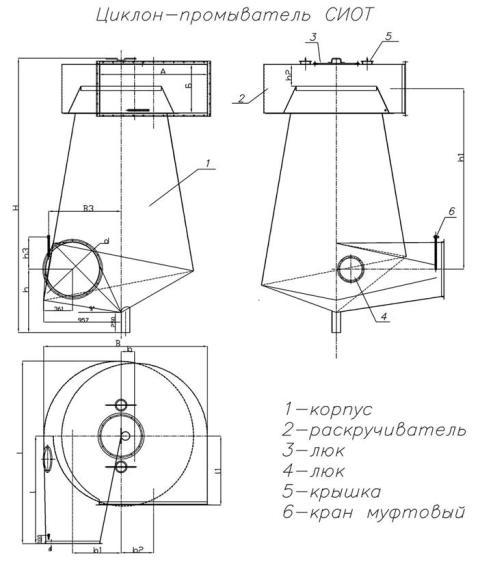 Унвент.ру - Схема циклона.